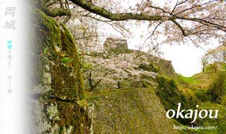 岡城跡大手門下からの風景