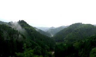 大分県竹田市九重野相ヶ瀬大橋(あいがせおおはし)からの風景