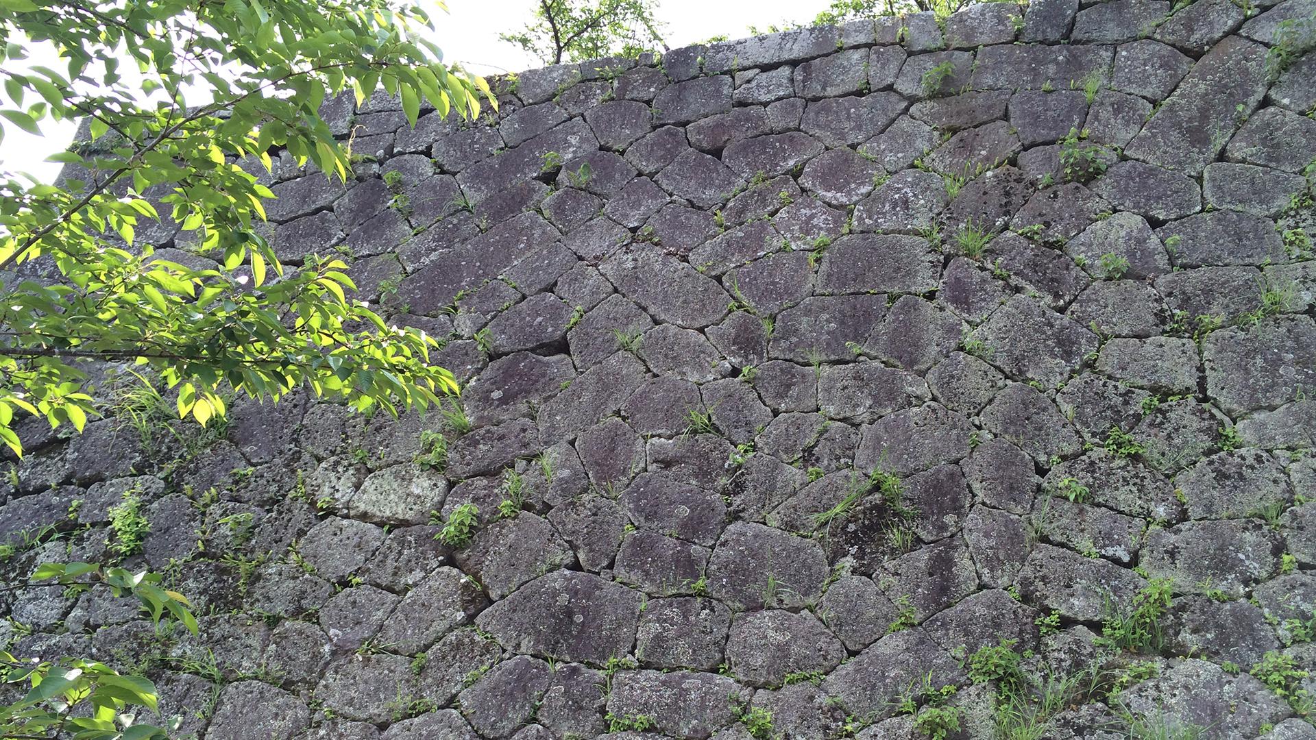 岡城本丸の石垣① 「整層乱積」
