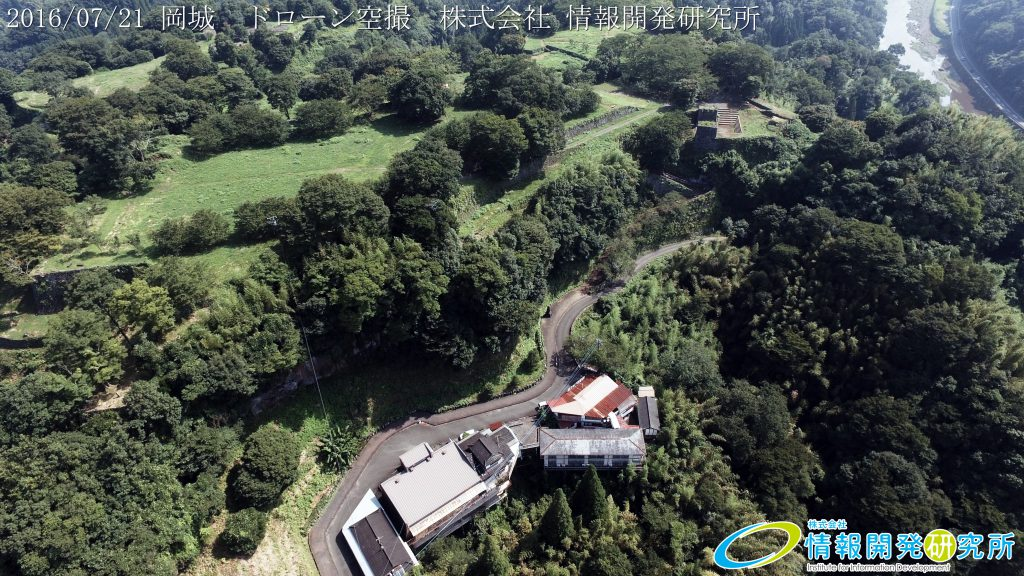 天空の豊後竹田「岡城」ドローン空撮4K写真 20160721 vol.1Aerial in drone the Oka castle/Okajou 4K Photo