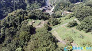 天空の豊後竹田「岡城」ドローン空撮4K写真 20160721 vol.6Aerial in drone the Oka castle/Okajou 4K Photo