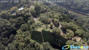 天空の豊後竹田「岡城」ドローン空撮4K写真 20160721 vol.9Aerial in drone the Oka castle/Okajou 4K Photo