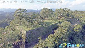 天空の豊後竹田「岡城」ドローン空撮4K写真 20160714 vol.3Aerial in drone the Oka castle/Okajou 4K Photo