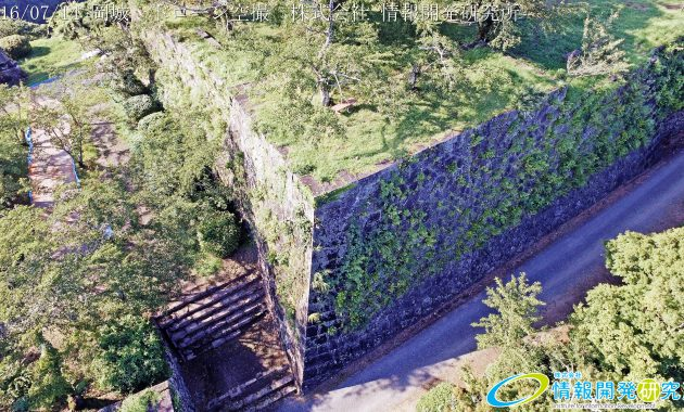 天空の豊後竹田「岡城」ドローン空撮4K写真 20160715 vol.1Aerial in drone the Oka castle/Okajou 4K Photo