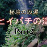 九州の大分県竹田市にある祖母山の滝ヒイバチの滝の動画、県指定天然記念物のイワメも周囲に生息