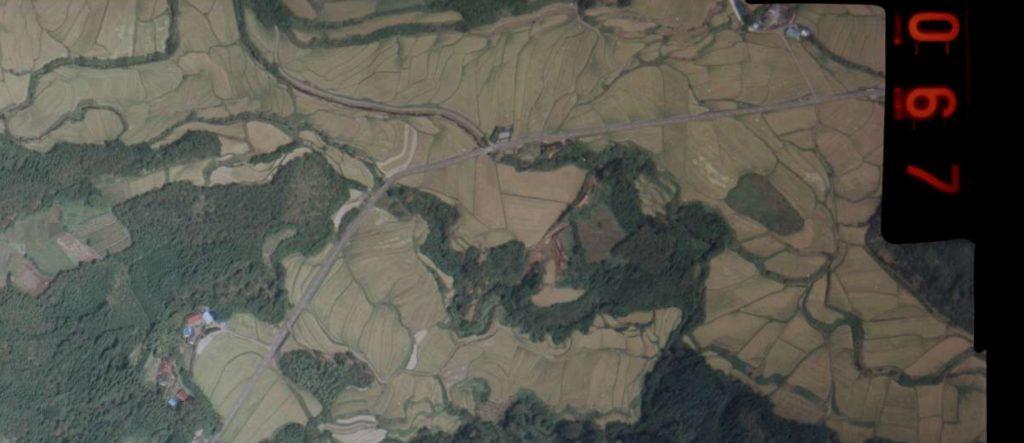 九州大分県の山城、三船城「山野城の支城」の地図