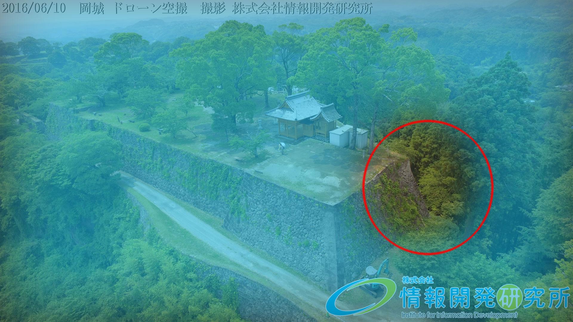 岡城本丸の石垣③「二重の石垣」(算木積)niju