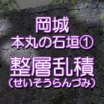 岡城本丸の石垣① 「整層乱積」seisou01