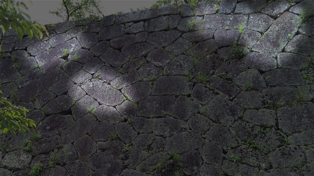 岡城本丸の石垣① 「整層乱積」seisou1920