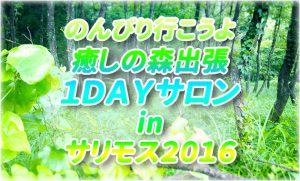 9月11日❉のんびり行こうよ❉ 癒しの森出張1DAYサロン in サリモス 2016開催