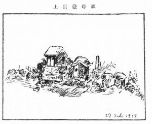 祖母山山頂の石祠図