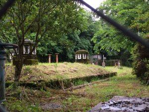 茶屋の辻、番所跡近くにある古い上水道配水池。