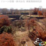紅葉が終わり落ち葉の絨毯が広がる 本丸 家老屋敷 天空の城 岡城 ドローン空撮 (4K) Vol.2
