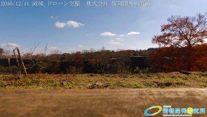 紅葉が終わり落ち葉の絨毯が広がる 本丸 家老屋敷 天空の城 岡城 ドローン空撮 (4K)
