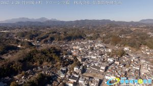 竹田城下町 ドローン空撮 4K 写真 20170126 vol.6 Aerial in drone the taketa castle town 4K Photography