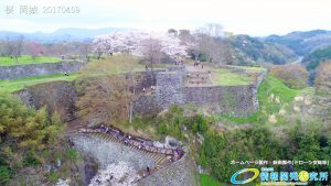 岡城跡 大手門 桜の写真 Vol.1