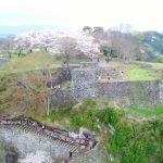 """動画 桜 大手門 岡城跡 九州竹田城 20170409 """"Sakura"""" Drone video in Oka castle"""