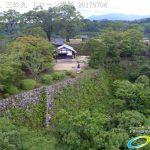 夏の密林のように生い茂る自然に覆われた岡城 本丸 二の丸 ドローン撮影(4K)写真 Vol.5 20170704