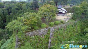 夏の密林のように生い茂る自然に覆われた岡城 二の丸 ドローン撮影(4K)写真 Vol.4 20170704