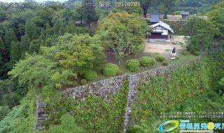 夏の密林のように生い茂る自然に覆われた岡城 二の丸 ドローン撮影(4K)写真 Vol.3 20170704