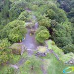 夏の密林のように生い茂る自然に覆われた岡城 ドローン撮影(4K)写真 Vol.6 20170704 防衛の要 虎口