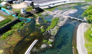 とてもキレイ 夏も冷たい!中島公園河川プール ドローン映像 4K 夏休みにおすすめ ウォータースライダー 河宇田湧水 Drone video in Nakashima Park River Pool